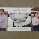 Photo Elegant Modern Save the Date / Printed Invitation / Chic / Southern Style Darby Cards Post Card