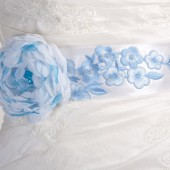 Blue bridal sash belt, flower sash for bride,bridal belt, something blue, bridesmaid sash