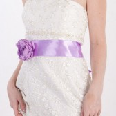 Lilac bridal sash belt, lilac floral sash, flower for sash, wedding accessories