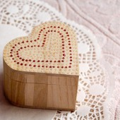 Ring Pillow Box for Wedding - Handmade eco rustic