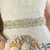 Rhinestone and pearl bridal sash
