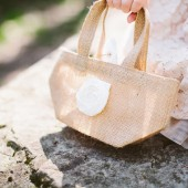 Burlap Flower Girl Bag