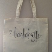 Bachelorette Canvas Tote Bag