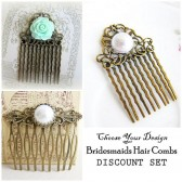 Choose your Bridesmaids Combs Set of 3, 4, 5, 6 or more