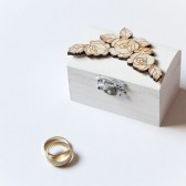 Winter Wedding Ring Bearer Box with Roses