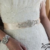 Jeweled sash wedding belt
