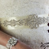 Wedding gown embellishment, sash