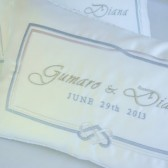 Custom Embroidered Pair of Wedding Kneeling Pillows