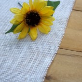 "72"" White Burlap Table Runner // Weddings, Home Decor, Rustic, Shabby Chic"