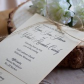 Rustic // Layered Wedding Program