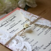 Rustic // Coral Wedding Program