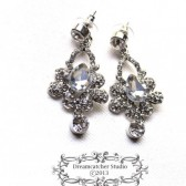 Pati bridal Jewelry Earrings Clear Crystal Tear Drop petite Earrings