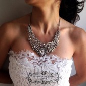 Nadia crystal Necklace wedding jewelry