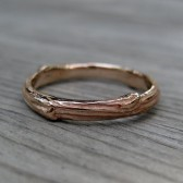 Twig Wedding Band, Rose Gold, 3mm