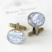 Personalized Map Cufflinks