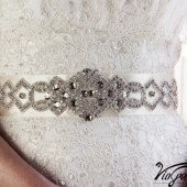 Jeweled sash belt