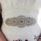 Rhinestones and pearl sash
