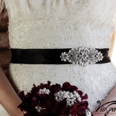 wedding sash - Satin custom color lace