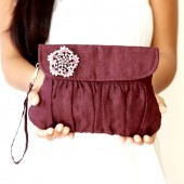 Linen Purple Clutch