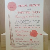 Bachelorette Weekend / Custom Printed Painting Party / Lingerie Shower / Modern Fun Invitation