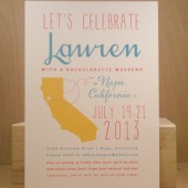 State Save the Date / Bachelorette Weekend / Custom Printed Poster Style California Modern Fun Invitation