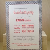 Bachelorette Party / Lingerie Shower / Modern Pattern Printed Invitation / Birthday / Rehearsal Dinner / Wedding / Save the Date