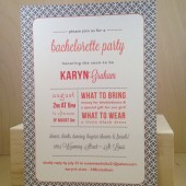Bachelorette Party / Lingerie Shower / Modern Pattern Printed Invitation / Birthday / Rehearsal Dinner / Wedding