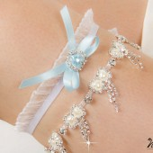 Crystal Chain Garters