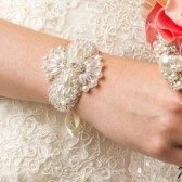 Rhinestone and Pearl Wedding Bracelet