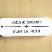 Personalized Wedding Favor Tags - Pack of 50