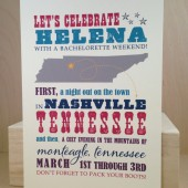 State Picture Save the Date / Bachelorette Weekend / Custom Printed Hatch Style Georgia