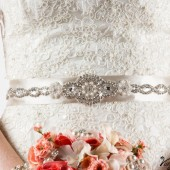 Pearl, jeweled sash belt