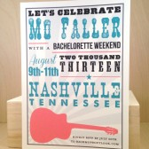 Hatch / Country / Band Poster / Bachelorette / Guitar / Screenprint Vintage Look / Printed Invitation / Party