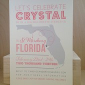 Any State Picture Save the Date / Bachelorette weekend / Custom Printed Poster Style Florida Fun Invitation