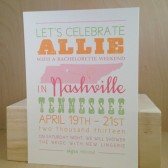 Small State Picture Save the Date / Bachelorette Weekend / Custom Printed Hatch Style Georgia