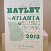 Any State Picture Save the Date / Bachelorette weekend / Custom Printed Hatch Style Nashville