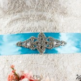 Bridal sash something blue