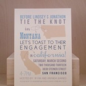 Tie the Knot Engagement Party / Modern / States / Toast / Save the Date / Rehearsal Dinner / Bridal / Bachelorette /