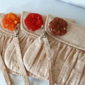 Autumn Wedding Linen Clutch