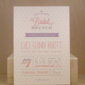 Bridal Brunch / Custom Printed Argyle / Bachelorette/ Garden Party / Tea Party / Sophisticated Garden Party / Bridal Fun Invitation