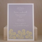 Bridal Shower / Gray and Yellow Flowers / Simple / Fun / Bridal / Birthday / Baby