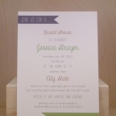 Simple Flag / Fun / Bridal Shower / Wedding / Southern / Wedding / Banner / Gray and Green / Invitation / Birthday / Rehearsal / Custom