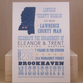 Engagement / Wedding / Bridal Shower / Two Hearts / Destination / County / Mississippi / Custom Southern County Design