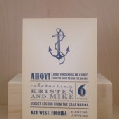 Beach Invitation / Vintage Rehearsal Dinner / Wedding / Birthday / Party / Custom Printed Anchor
