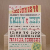 Western / Hatch / Southern Engagement Party / Save the Date / Rehearsal Dinner / Wedding Custom Printed
