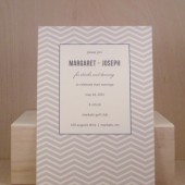 Modern Chevron Fun Invitation / Rehearsal Dinner / Engagement / Wedding / Save the Date / Birthday / Party