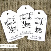Thank You Custom Wedding Favor Tags