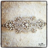 ART DECO crystal sash