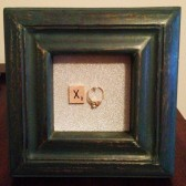 Turquoise Frame Ring Holder