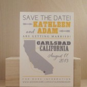 Southern Hatch Style Save the Date / California / San Diego / State / Bachelorette / Birthday / Wedding / Lingerie